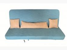 [8成新] B31804*藍色布面沙發床*沙發床有輕微破損