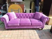 [全新] 紫色絨布獨立筒座墊沙發3人座多件沙發組全新