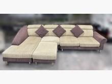 [9成新] A31301*咖啡色布沙發L型沙發無破損有使用痕跡