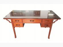 [8成新] LG3084*黑檀木餐桌椅組*書桌/椅有輕微破損