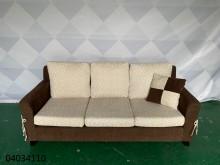 [9成新] 04034110雙色3人座布沙發雙人沙發無破損有使用痕跡