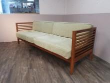 [9成新] 極度稀缺經典款詩肯柚木三人沙發木製沙發無破損有使用痕跡
