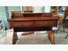 [9成新] 柚木色古典造型書桌書桌/椅無破損有使用痕跡