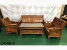 [9成新] 04060110 客廳木製沙發木製沙發無破損有使用痕跡