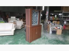 合運二手傢俱~胡桃色雙面隔間櫃收納櫃有輕微破損