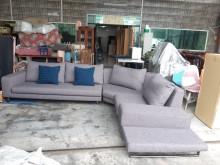 [95成新] 九成五新全拆洗麻紗L型高級布沙發L型沙發近乎全新