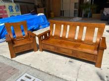 [9成新] 大慶二手家具 樟木1+3木沙發木製沙發無破損有使用痕跡