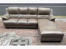 [9成新] 三合二手物流(半牛皮L型沙發)L型沙發無破損有使用痕跡