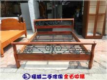 [9成新] 權威傢俱/美式鄉村實木5尺床架雙人床架無破損有使用痕跡