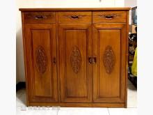 [9成新] 搬家售-香樟木全實木雕花鞋櫃鞋櫃無破損有使用痕跡
