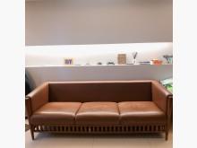 [8成新] 3+2+1 真皮實木沙發組多件沙發組有輕微破損