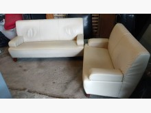 [9成新] 米白3+2皮沙發多件沙發組無破損有使用痕跡