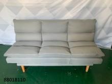 [全新] 88018110 淺灰布沙發床沙發床全新