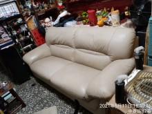 [9成新] 搬家很新牛皮沙發3人座雙人沙發無破損有使用痕跡