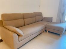 [9成新] L型布沙發L型沙發無破損有使用痕跡