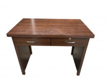 E40315*胡桃書桌二抽書桌/椅無破損有使用痕跡