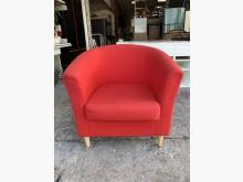 [8成新] IKEA紅色布面 扶手椅-沙發椅單人沙發有輕微破損