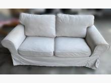 [8成新] A51011*白色雙人布沙發*雙人沙發有輕微破損