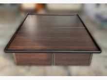[9成新] B5095*胡桃5尺加高掀床雙人床架無破損有使用痕跡