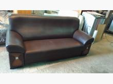 [9成新] 咖啡色三人座半牛皮沙發雙人沙發無破損有使用痕跡