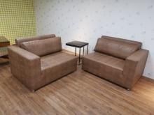 [9成新] 九成九新豪宅釋出2+2皮紋沙發多件沙發組無破損有使用痕跡