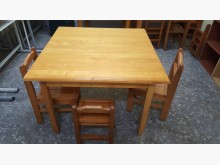 [9成新] 實木兒童方桌,半買半相送~書桌/椅無破損有使用痕跡