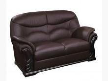 [全新] 869型咖啡色半牛皮雙人沙發椅雙人沙發全新