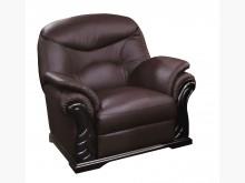 [全新] 869型咖啡色半牛皮單人沙發椅單人沙發全新