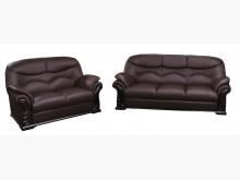 [全新] 869型咖啡色半牛皮321沙發組多件沙發組全新