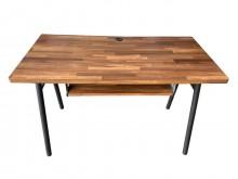 [9成新] E6704B*木色鐵角書桌*書桌/椅無破損有使用痕跡