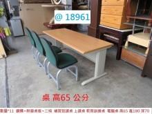 [8成新] @18961 上課桌 +三椅書桌/椅有輕微破損