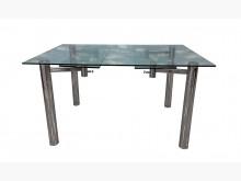 [95成新] E61613*庫存玻璃伸縮餐桌餐桌近乎全新