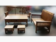 [全新] 全新柚木條子木沙發 木板椅木製沙發全新