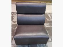 [8成新] 單人坐咖啡色皮沙發單人沙發有輕微破損