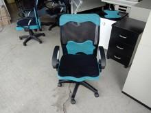 [95成新] 藍黑網背升降電腦椅H03892電腦桌/椅近乎全新