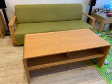 [9成新] 二手有情門帕普沙發(綠)和吉寶茶多件沙發組無破損有使用痕跡