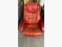 [9成新] 單人紅皮色休閒沙發單人沙發無破損有使用痕跡