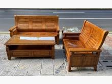 [95成新] 三合二手物流(樟木沙發組)木製沙發近乎全新