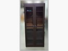 [全新] 全新玻璃門胡桃木書櫃書櫃/書架全新