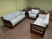 [9成新] 柚木亞麻布3+2+1沙發組多件沙發組無破損有使用痕跡