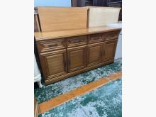 [9成新] 四抽拉門半實木餐櫃收納櫃無破損有使用痕跡