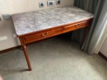 [95成新] 紅木三尺桌子{含石面}書桌/椅近乎全新