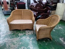 [8成新] 藤製峇厘島風1+2沙發*藤沙發*籐製沙發有輕微破損