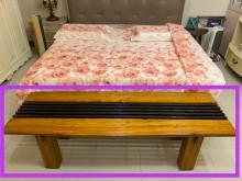 [9成新] 全原木高級休閒長座凳其它桌椅無破損有使用痕跡