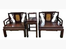 [9成新] TK11311花梨木大理石桌椅組木製沙發無破損有使用痕跡