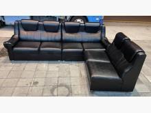 [8成新] 黑色L型沙發L型沙發有輕微破損