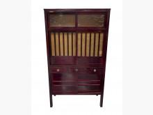 [8成新] CS70405*古早檜木菜櫥*碗盤櫥櫃有輕微破損