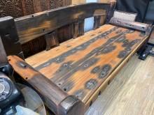 [9成新] 羅漢椅-船木/實木(含客製化皮墊躺椅無破損有使用痕跡