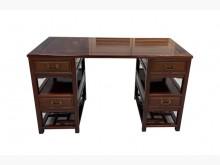 [9成新] RB62717*花梨木4抽書桌桌子無破損有使用痕跡