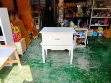 合運二手傢俱~白色松木展示置物櫃收納櫃有輕微破損
